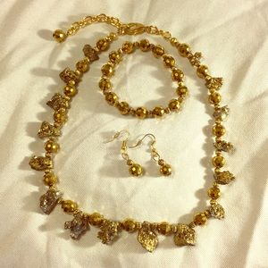 Jewelry - Custom Gold Pyrite Jewelry Set
